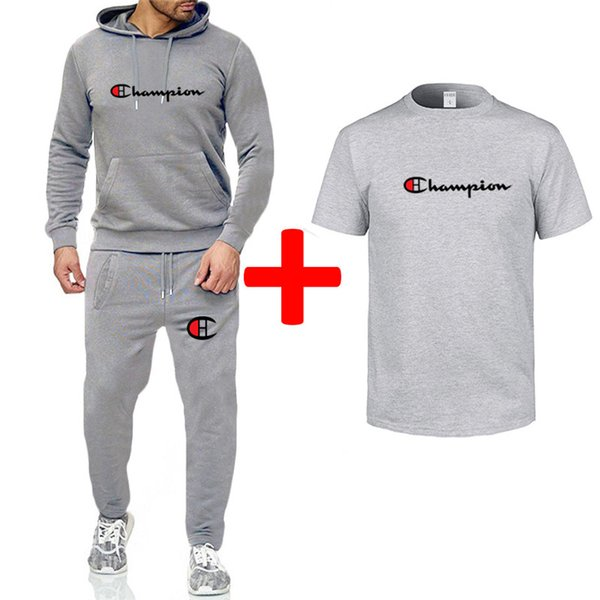 Diseñador Swearshirt Hooded Pants Chándal Champion Brand Pullover Tops Mens 3 Piece Clothes Set Otoño Invierno Deportes Casual Outfit B82304