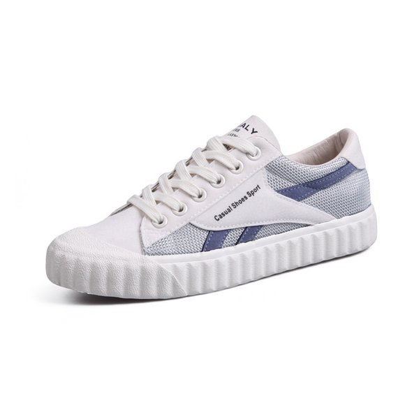 Women's single shoes 2019 new canvas color matching low to help women's shoes casual wild