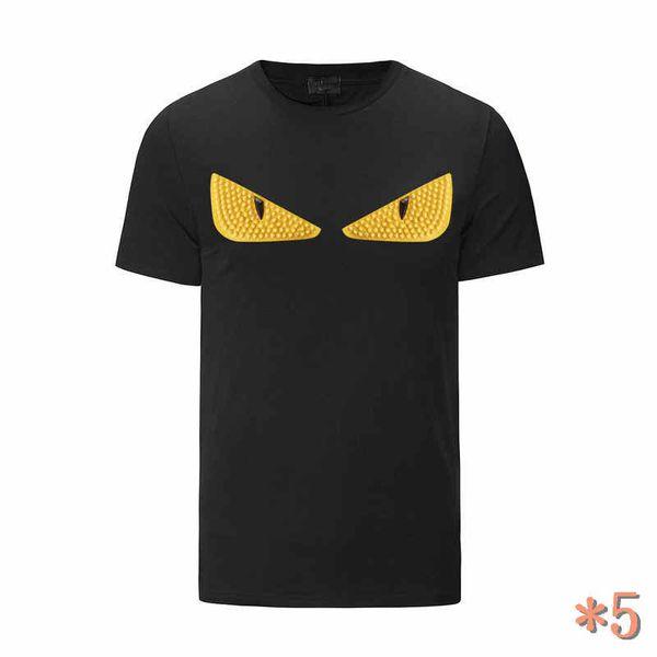 Herren-T-Shirts Mode Herrenmode Sommer-beiläufige Street Marken-T-Shirt Rivet Baumwollmischung mit Rundhalsausschnitt Short Sleeve * 5