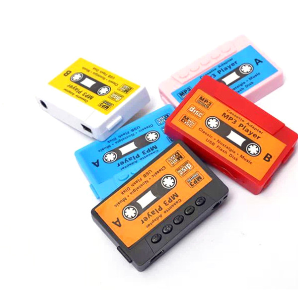 top popular Wholesale- Hot Sale High quality mini Tape MP3 Player support Micro SD(TF) card 5 colors DHL Free shipping Cheapest 2021
