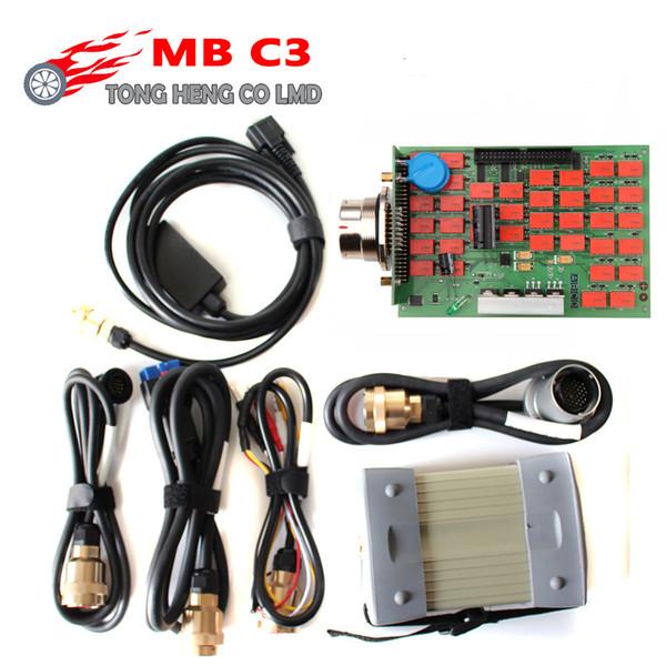 Alta qualità MB Star C3 Full Chip SD Connect mb c3 Supporta auto e camion 12V 24V con relè NEC Multiplexer a stella