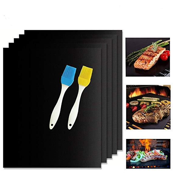 Reusable Non Stick BBQ Grill Mat Baking Easy Clean Grilling Fried Sheet Portable Outdoor Picnic Cooking Barbecue Tool