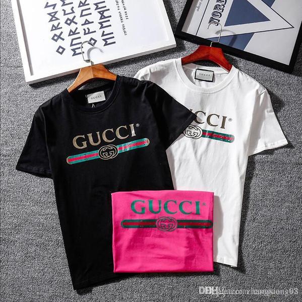 Nueva camiseta gy2019 suelta camiseta de manga corta ropa de verano para mujeres Versión coreana de la impresión de letras de estudiantes salvajes