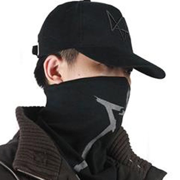 Dropshipping New High Quality Watch Dogs Aiden Pearce Cosplay Face Mask Scarf Costume Hot Game Style