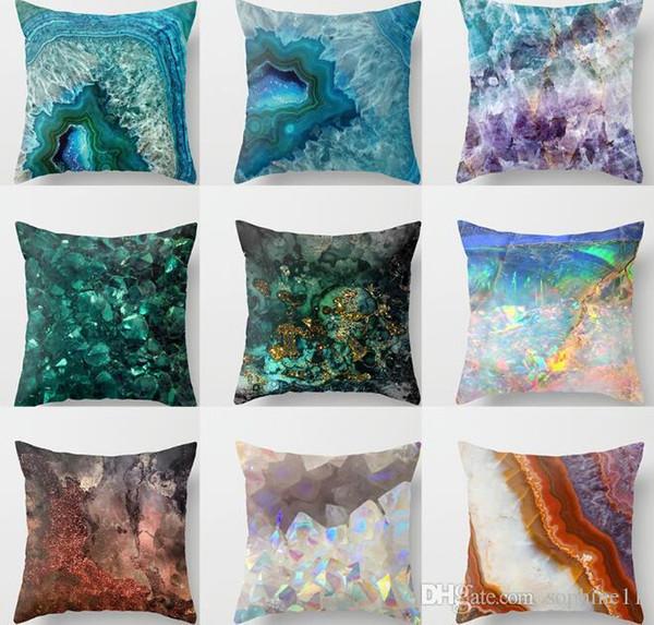 Almohada geométrica Caso modelo mármol cubierta de almohadas Throw amortiguador de la cubierta Funda de almohada para el sofá Decoración