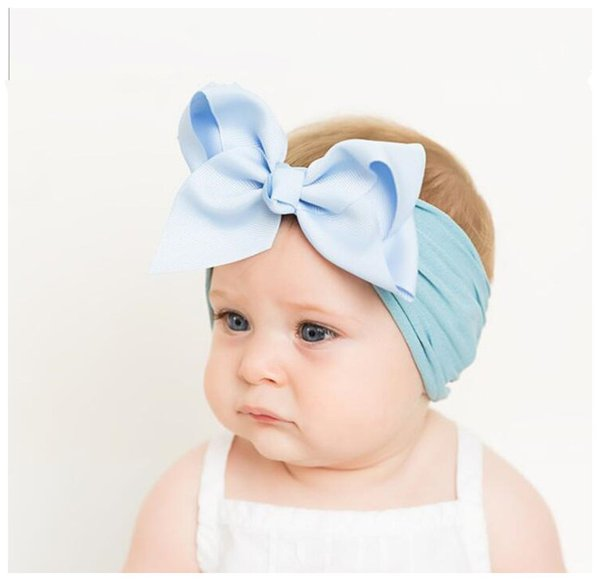 NEW 5 Pack Wide Band Velvet Headband for Baby,Toddler Girls Bows Turban Head Wrap Hair Bands Hairband