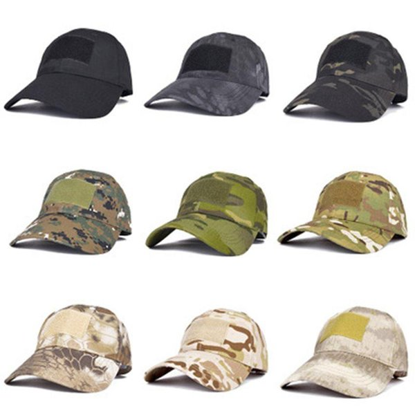 top popular 16 Styles Army Fan Snapbacks Outdoor Baseball Cap Male Tactical Camouflage Hat Sports Magic Stick Sun Cap ZZA1335 2021