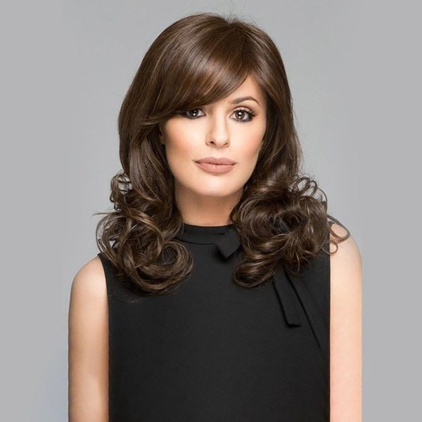 WoodFedfdsfsdf black2ew wodf3men natudsfdsf3ral cheap synthetic hair wigs straight 35cm black wig bangs heat resistan223t fiber