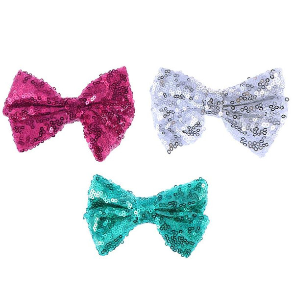 3pcs Hairpin Decorative Sequin Cute Bowknot Hair Accessories Barrette Hair Clip Bobby Pin for Children Kids Girls