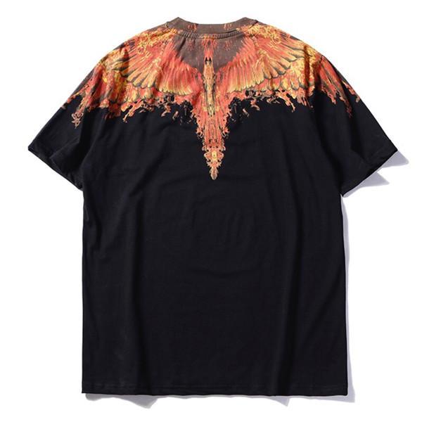 19SS Luxurious Brand MBL Wings series pattern fashion Men Women Spring Summer Sleeves Outdoor Streetwear T-shirt