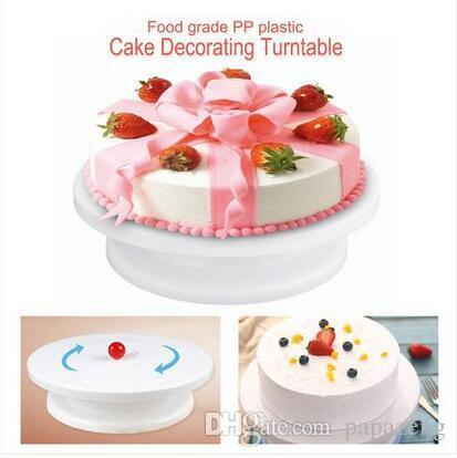 Hot sales Wholesales Free shipping Cake Decoration Turntable Practical Table Rotating Disc Non-Slip Baking Tool