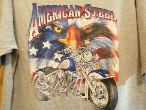 AMERICAN STEEL grey graphic XL мотоцикл т 05 Daytona велосипедная неделя