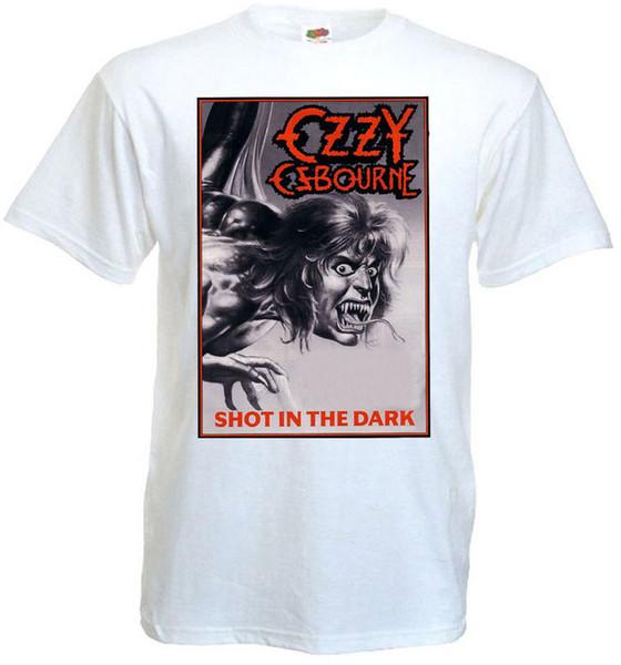 Ozzy Osbourne Karanlıkta Shot T-shirt beyaz poster tüm boyutları ... 5XL Boyutu Discout Sıcak Yeni Tshirt denim elbise camiseta t gömlek