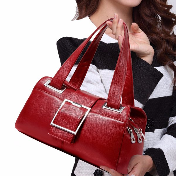 Decent2019 European Pattern New Demeanour Genuine Leather Woman Handbag Fashion Joker Pillow Middle Age Single Shoulder Package