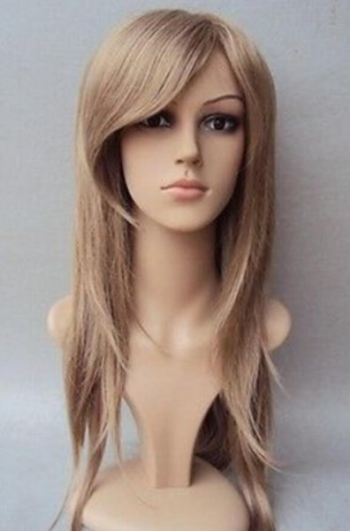 WIG free shipping Hot Long layer elegant hair wig in blonde color