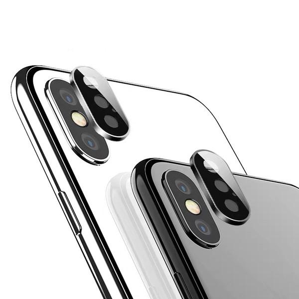 Задняя крышка объектива камеры протектор экрана для iphone 11 Pro XS Max XR X кольцо металлический задний корпус закаленное стекло пленка мода защитный чехол