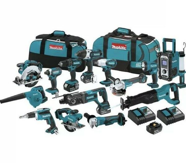 Makita lxt1501 18 volt lxt li ion cordle 15 piece tool kit nib hip from tore