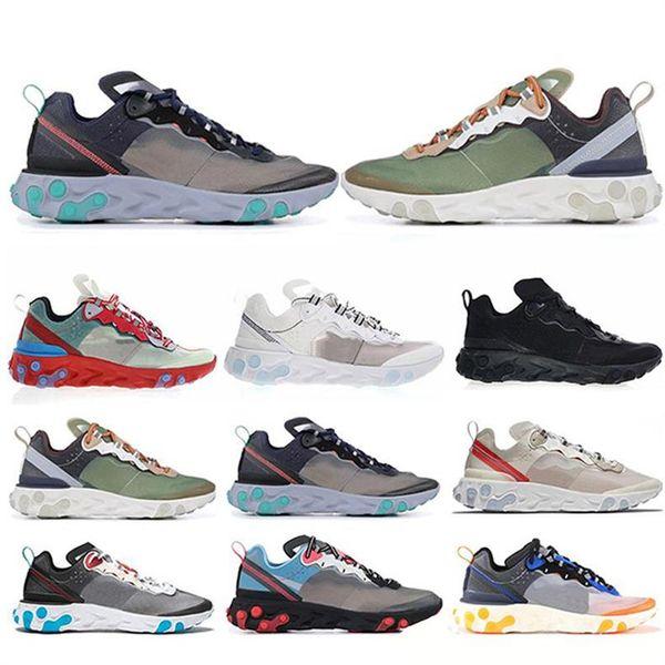 2019 Total Orange Epic React Element 87s Casual Chaussures Pour Femmes hommes Gris Foncé mode luxe hommes femmes designer sandales chaussures