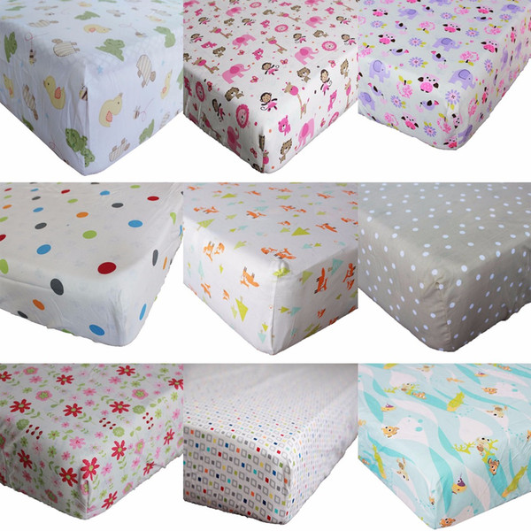 cute polyester cotton fitted crib sheet