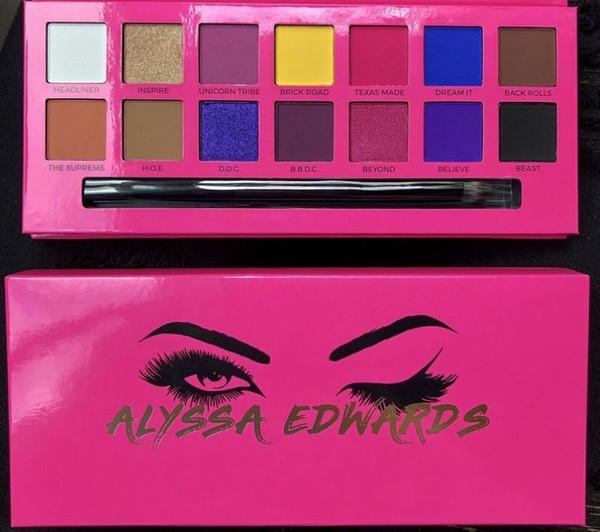 * ¡DHL directo de la fábrica libera el envío nuevo maquillaje de los ojos marca de fábrica caliente de Alyssa Edwards paleta del sombreador de ojos 14 colores de sombra de ojos!