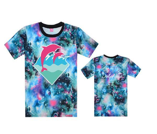 2018 Popular pink dolphin t-shirt Men Sport Short Sleeve Printed Hip Hop T Shirt Men Hipster Clothing tshirt Streetwear Tees Shirts fashion