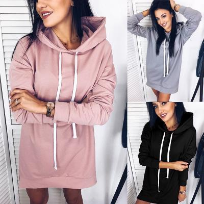 Plus Size 3XL 3Colors Classic Style Pullover Hoodies Cotton Blend Sprint Autumn Sweater Dresses Free Shipping DHL