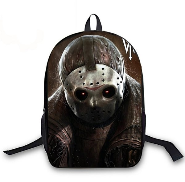 Horrible Friday The 13th Jason Printing Children Girls School Bags For Teenage Casual Daily laptop Backpacks F023