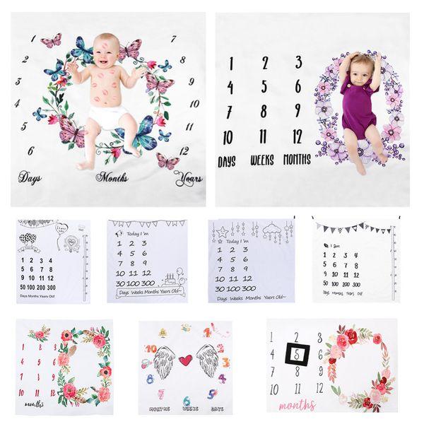 29 стиль новорожденного ребенка фотографии фон реквизит детские фото фоны детские одеяла обернуть цветок печати ткань MMA2212
