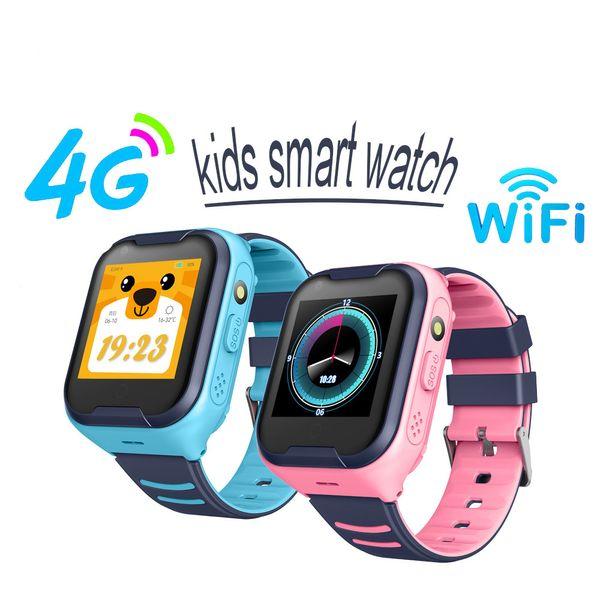 G4H 4G Smart Kids Montre GPS Téléréponse supérieur Spearker IP67 étanche Caméra d'affichage 1,4 pouces Prenez la vidéo