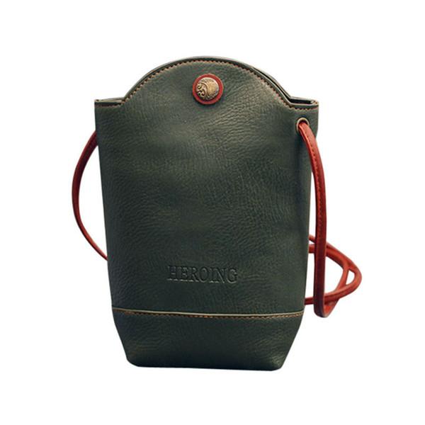 Cheap Hot Vintage Women Phone Leather Messenger Bags Slim Shoulder Bags Handbag Small Body Bags for women bolsa feminina C