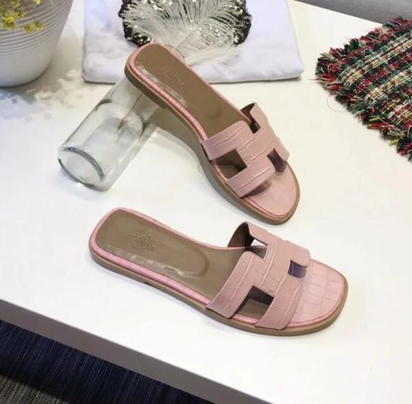 Nueva mujer casual sandalias moda verano zapatos de playa zapatos de playa de cuero zapatillas mujer peep toe sandalias # L4077