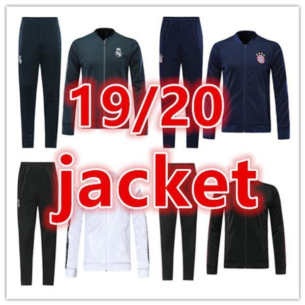 2019 2019 2020 New Real Madrid Bayern Munich Ajax Mens Soccer Jacket Tracksuit 19 20 Men Full Zipper Football Jackets Training Jogging Suit From