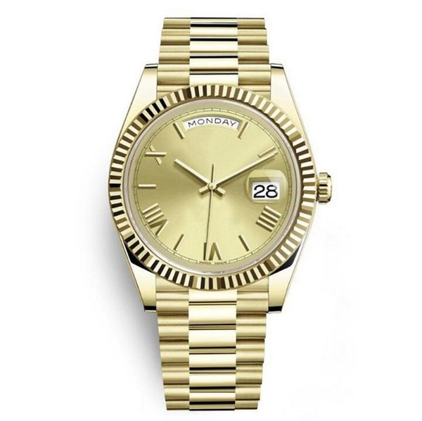 Hot montres de luxe hommes Daydate gros DATEJUST RLX auto-vent automatique montres 18K acier inoxydable Wristwatch pas de batterie 2813