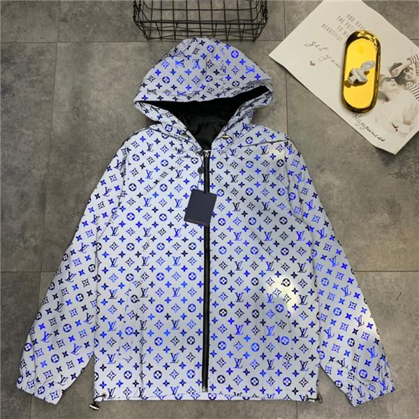 19ss Nuevo diseño de marca de lujo completo logos impresión 3M chaqueta reflectante Hombres Mujeres Moda casual Streetwear Sudaderas camisas al aire libre