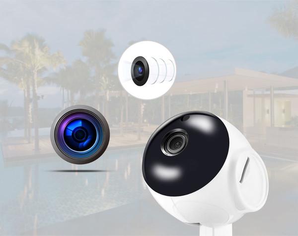V380 HD 720 P Mini IP Kamera Wifi Kamera Kablosuz P2P Güvenlik Gözetim Kamera Gece Görüş IR Robot Bebek Monitörü Destek 64G