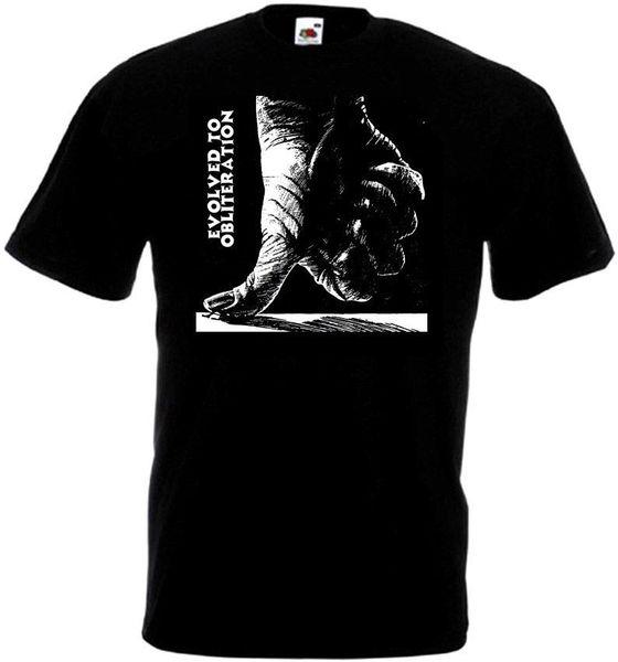 Evolved to Obliteration v2 T-shirt black hardcore punk all sizes S-5XL Funny free shipping Unisex Casual Tshirt