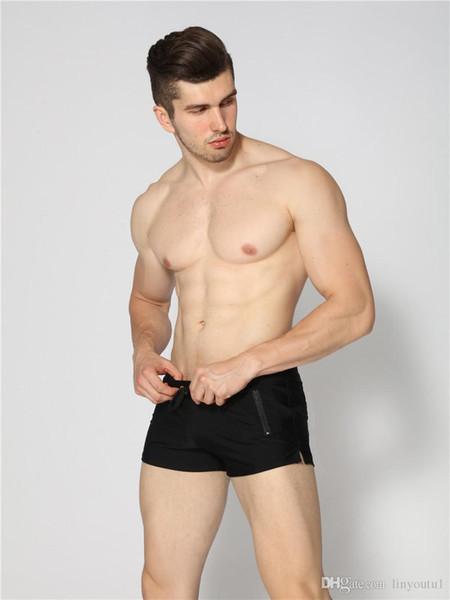 2019 Sexy Homme Maillots de bain Maillots de bain Maillots de bain pour hommes Sunga chaud Hommes Slip de bain shorts de plage Mayo Sunga maillots de bain Gay Pouch
