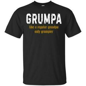 Grumpa Like A Regular Grandpa Only Grumpier Men T-Shirt S-6Xl BlaUnisex Made in USA