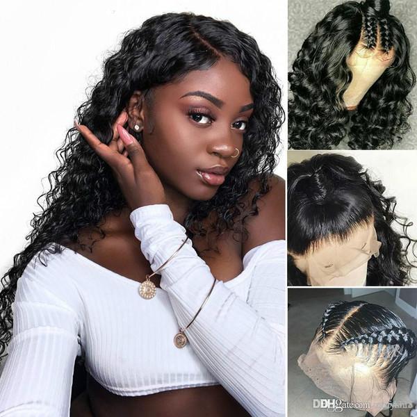 Pérou Lace Front perruques de cheveux humains Vague Lace Front Wigs Pré Pincées Remy perruques de cheveux humains avec bébé cheveux knhj21
