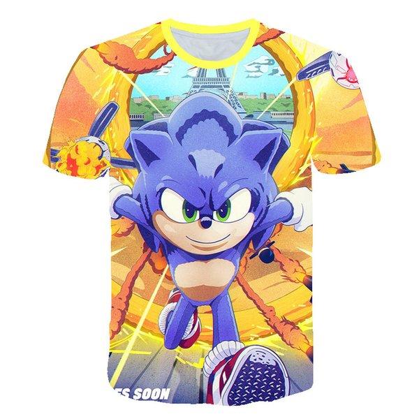 Kids 3d Cartoon Sonic The Hedgehog Print T Shirts Costume Boys T Shirt Girls Summer T Shirt Clothing Children Tee Tops Clothes Awesome Shirt Design Free T Shirts From Qinglaishifuzhang 11 68 Dhgate Com