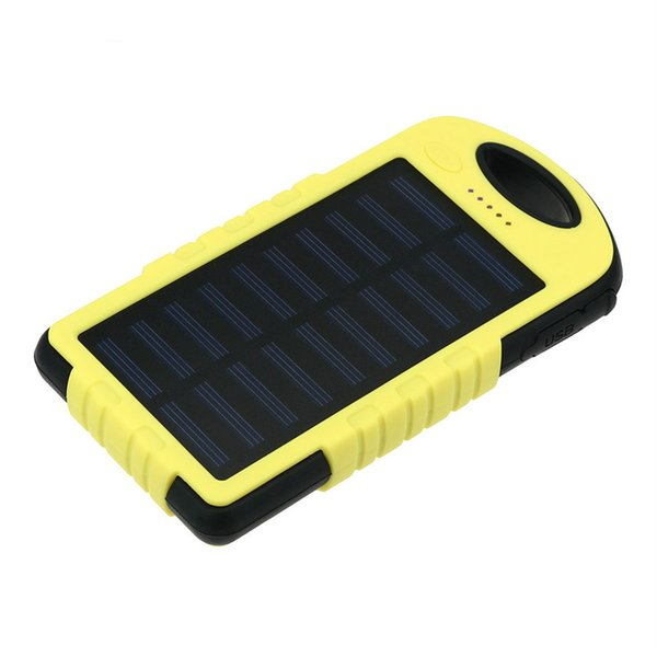 Brand 8000mAh Portable Waterproof Solar Charger Dual USB External Battery Power Bank For Cell Phone Accessories USB Cable