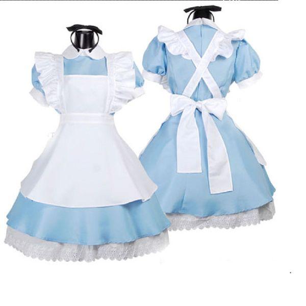 Lolita Princesa Vestidos de mucama Elegante delantal Vestido de sirvienta Uniforme Anime Traje lindo Escenario Rendimiento Traje Ropa de cocina