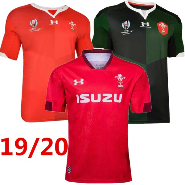 best selling Best Quality 2019 2020 Wales Home new rugby jerseys 19 20 National Rugby League Wales rugby jerseys red mens size S - 3XL