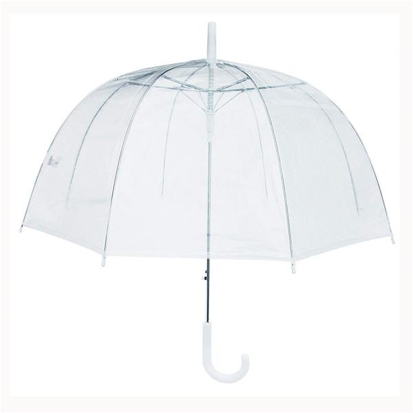 Arco Paraguas Transparente Seta En forma de escarda Decoración Parasol Claro A prueba de sol Anti Lluvia Paraguas Impermeable
