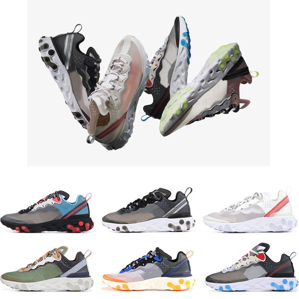 React Element 87 Undercover Running Shoes mens women Royal Tint Light Orewood Brown Hyper Fusion Blue Chill Trainer Sports Sneakers 36-45