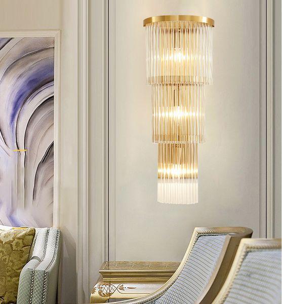 E14 Applique Murale En Cristal Applique Murale Simple Et Creative Chambre Lampe De Chevet En Cristal Lumières Or Pour La Maison Ligting
