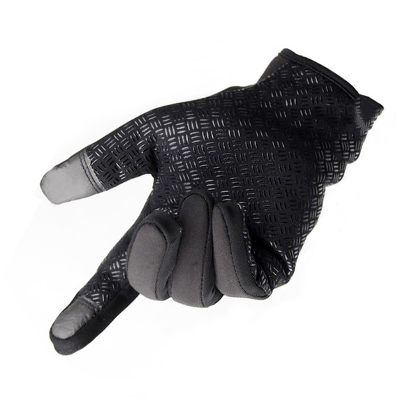 Winter outdoor cycling gloves men women windproof and warm touch screen gloves skiing and cycling zipper