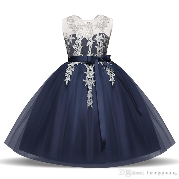 Children Homecoming Dress Princess Girl Formal Dresses Junior School Frocks Costume Girls Party Birthday Outfits Gowns Tulle Lace Clothes 8T
