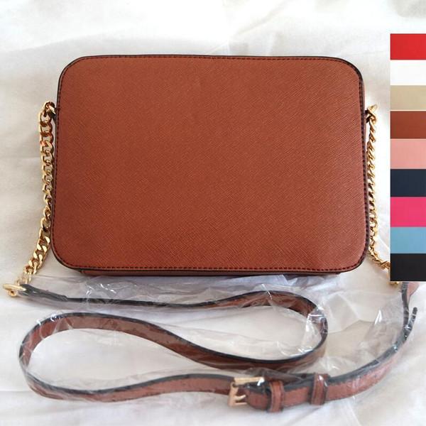 2018 nouvelle taille 23 cm * 5 cm * 16 cm femmes célèbre MYK sac à main en cuir motif croisé sacs carrés une épaule messenger sac bandoulière chaîne porte-monnaie