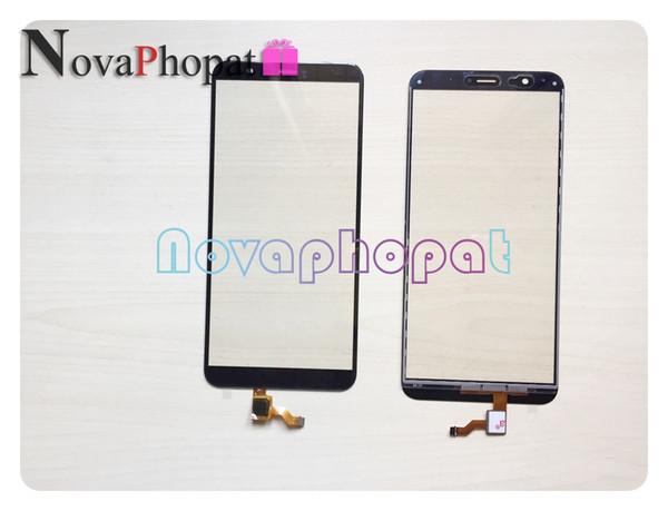 Novaphopat Test TAMAM Siyah / Beyaz / Mavi / Altın Sensörü Için Huawei Onur 7A Pro AUM-L29 Dokunmatik Ekran Digitizer Cam Panel 10 adet / grup
